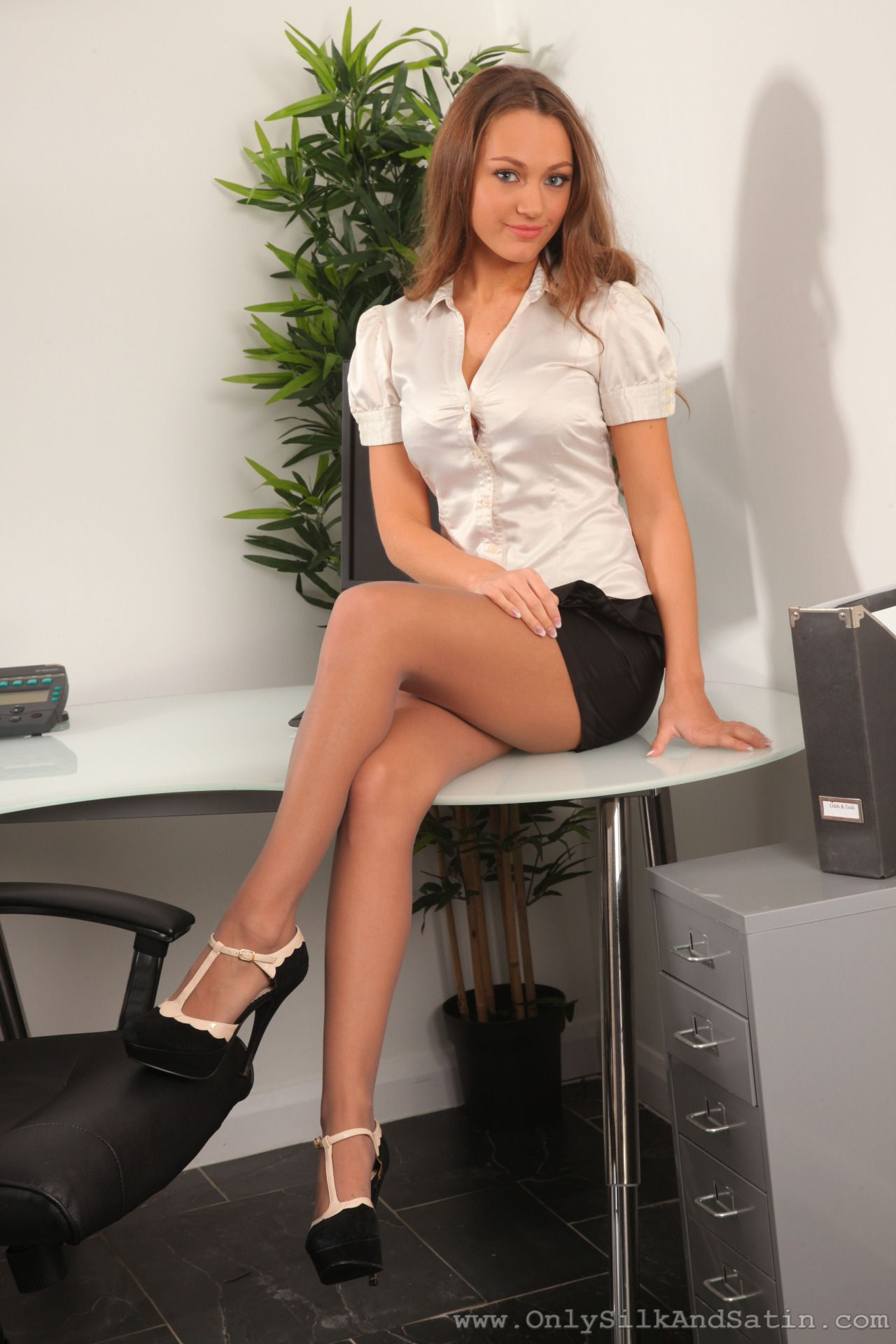 Boobs In Button Shirts  Beautiful Women  Tights, Sexy, Secretary-6232