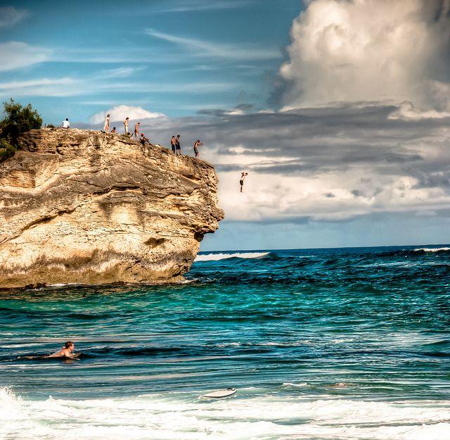 Kauai Beach: Shipwreck Beach Jumper HDR
