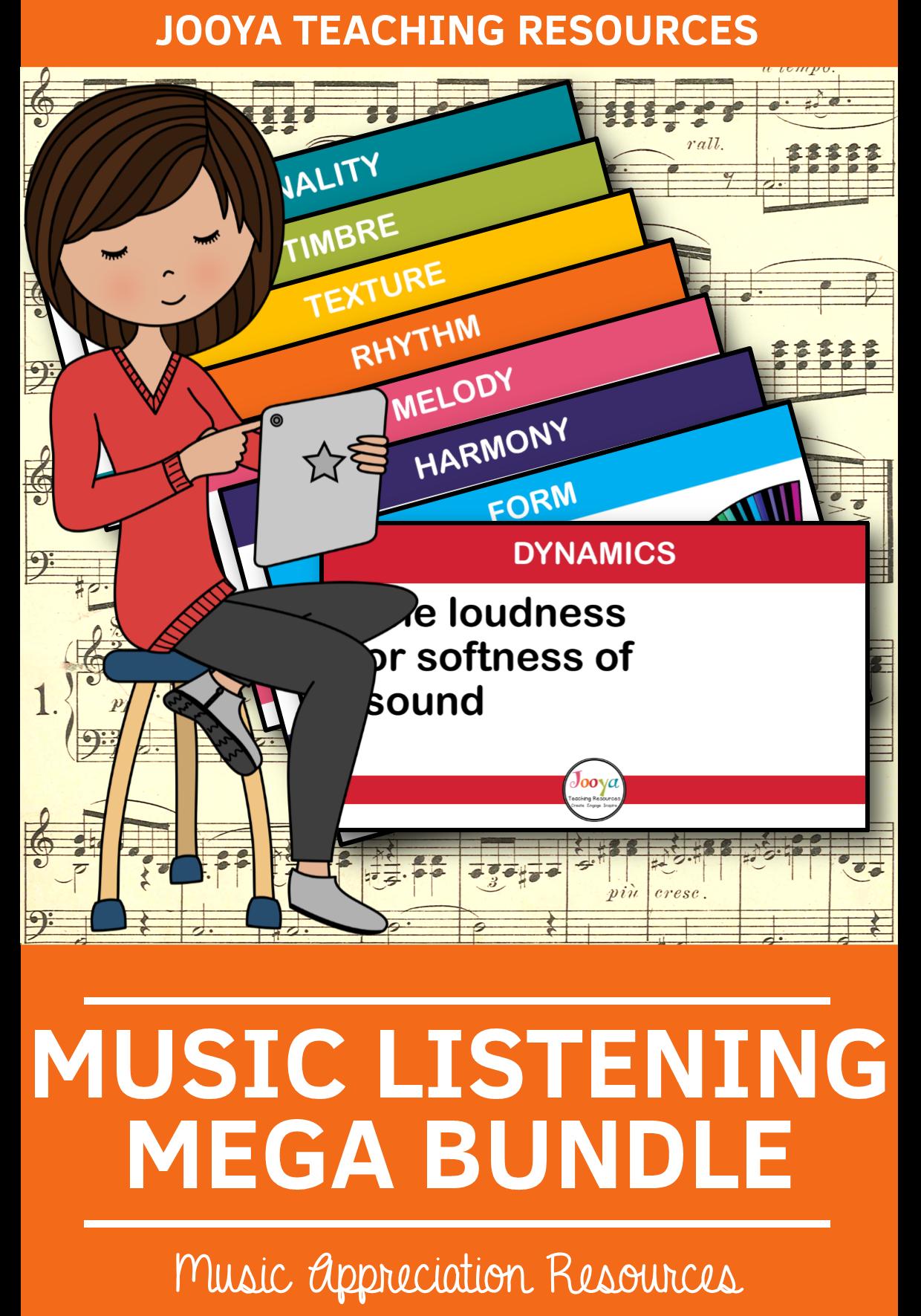 Mega Bundle Of Music Listening Activities