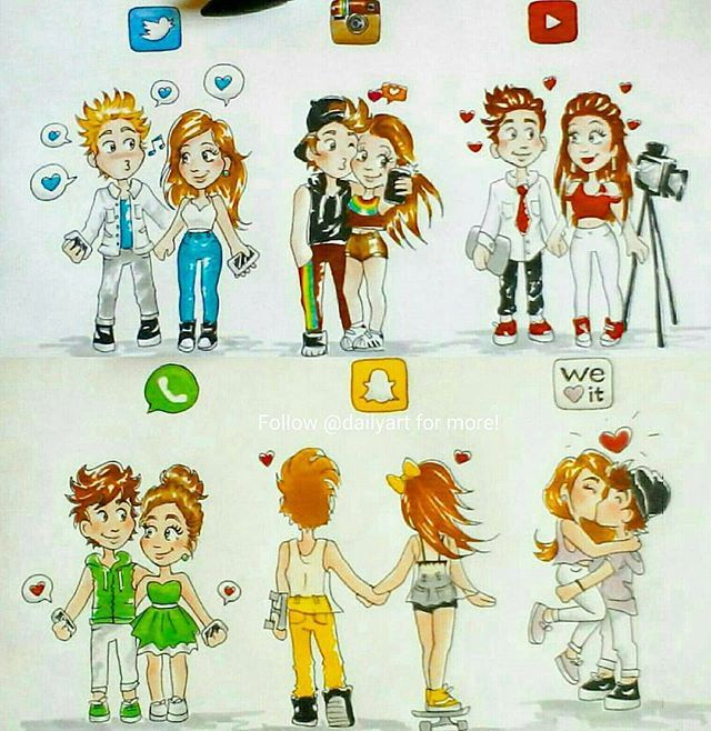 Social Media Couples Who S Your Favorite By Laurene Artist