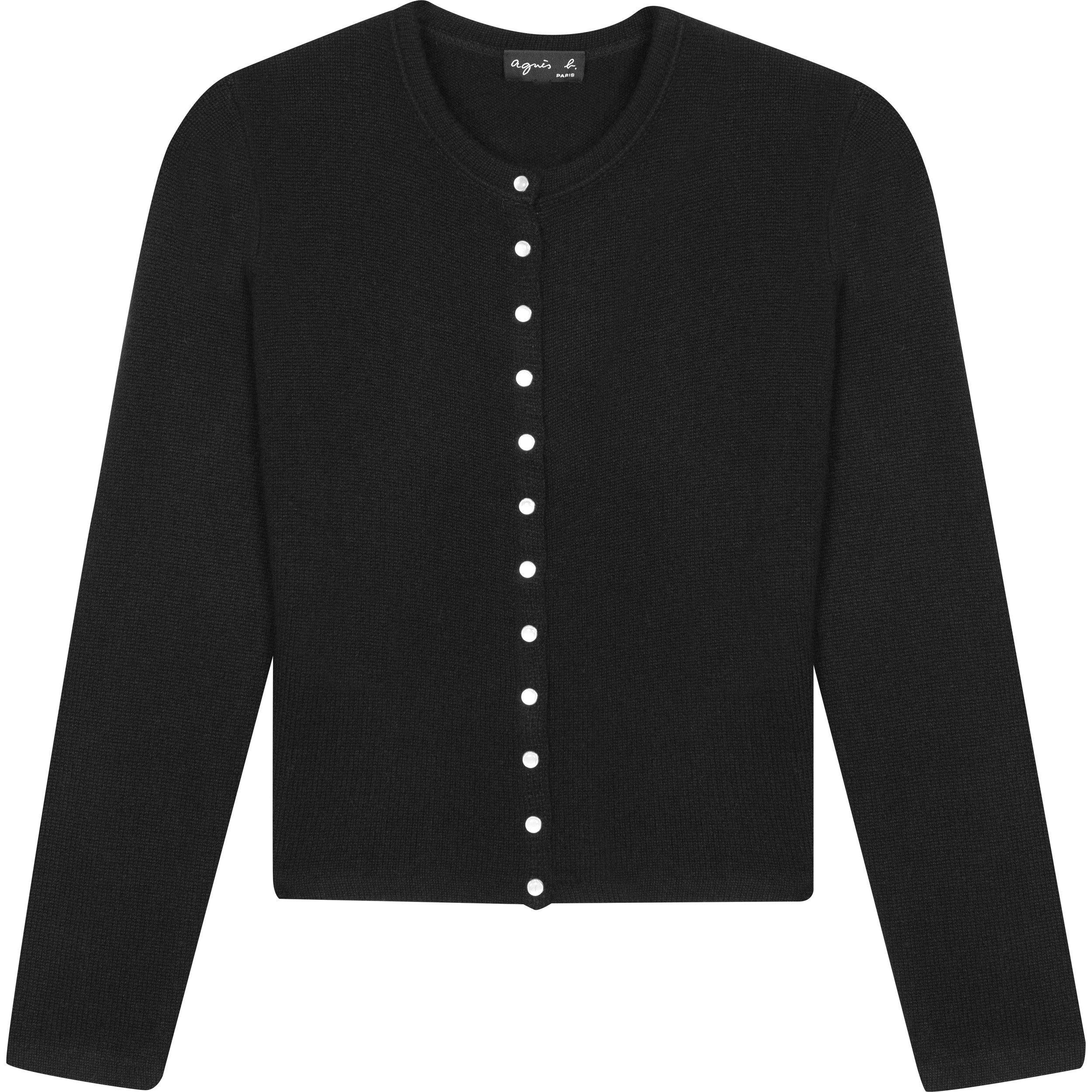 black cashmere cardigan | agnès b. - UK Boutique | Cardigans For ...