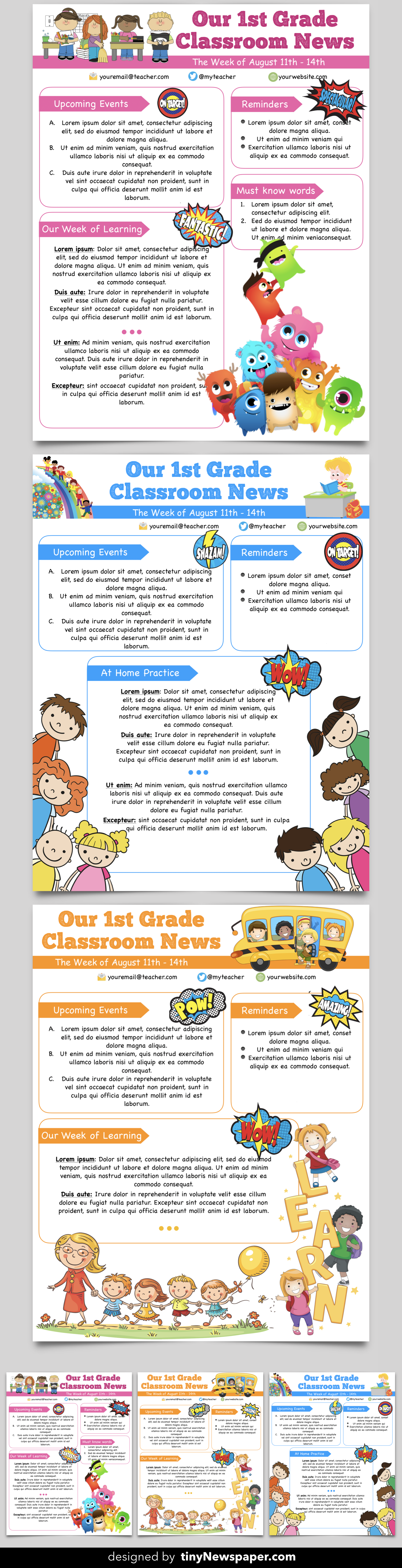 newsletter templates word free download