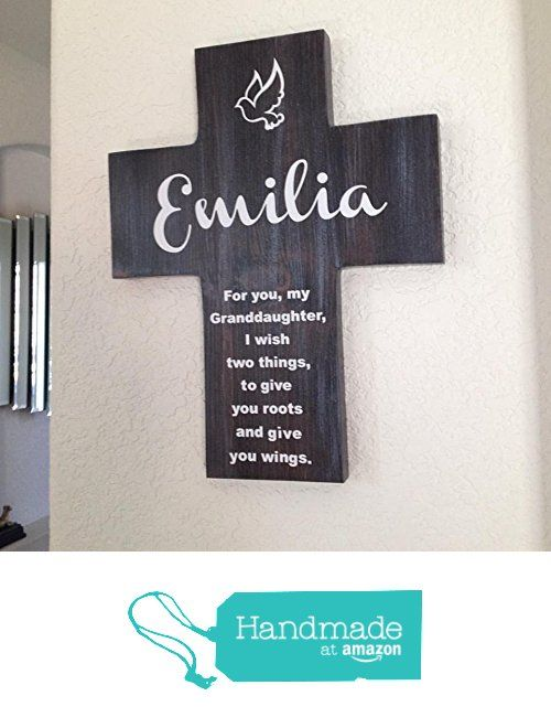 Granddaughter cross personalized with her name on pine wood w granddaughter cross personalized with her name on pine wood w dove roots wings negle Gallery