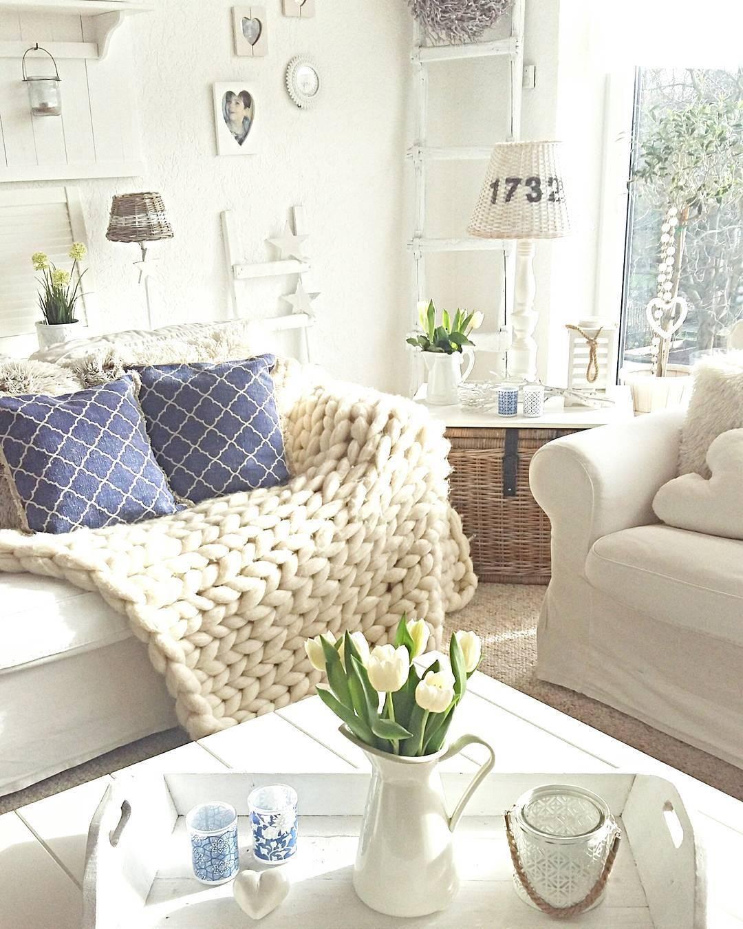Handgefertigtes Woll-Plaid Super Chunky   Kissen sofa, Wohnzimmer ...