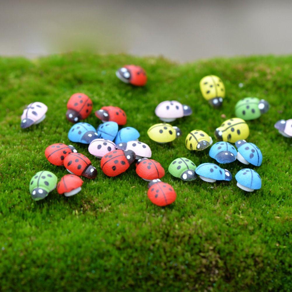 Hot Colorful Beetle Ladybug Garden Ornament Figurine Miniature ...