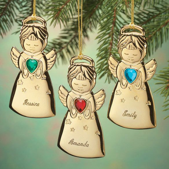 Personalized Angel Christmas Ornaments - Zoom | Christmas Party ...