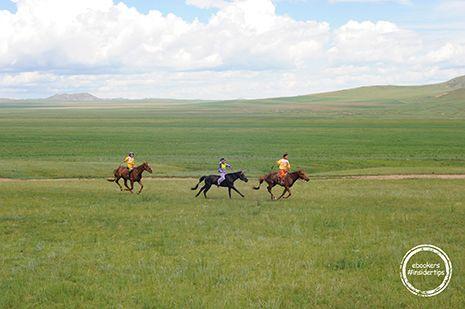 Nadaam Kinder Pferderennen