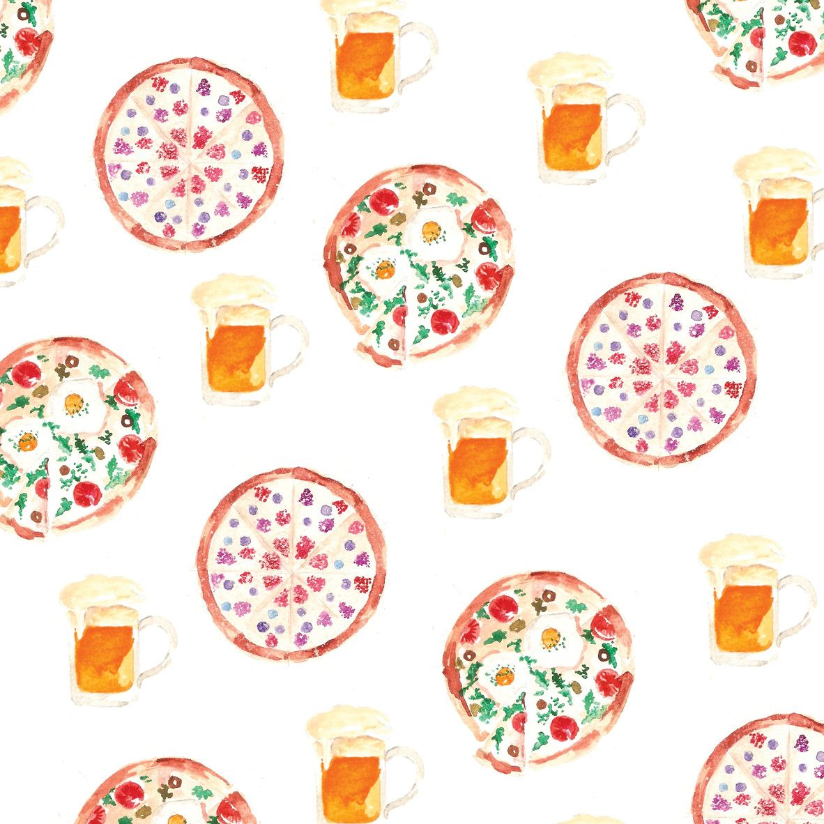 pizza and beer pattern for communication process handout about Pizza e Birra!