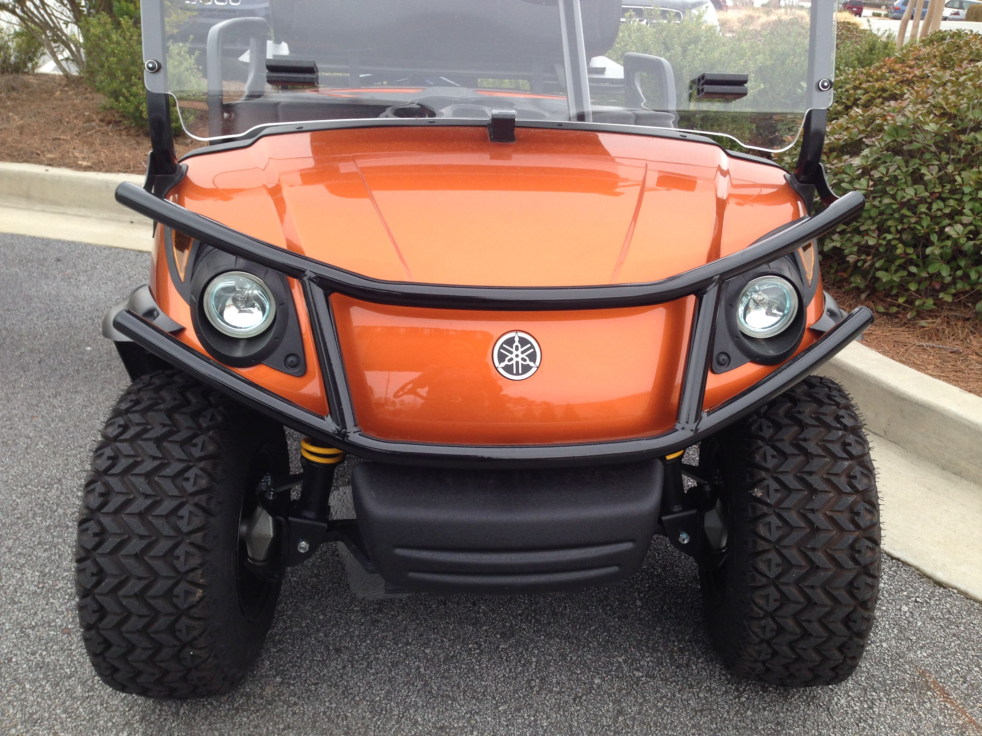 Yamaha golf cart accessorizes like brush guards and fender flares customize  your cart to create your own unique look and style.  #yamahagolfcartaccessories