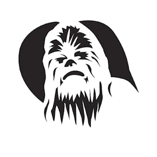 Star wars chewbacca die cut vinyl decal pv1003