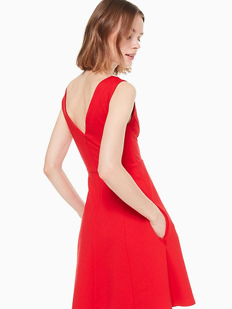 96b813ff757 Kate Spade V-neck Ponte Dress
