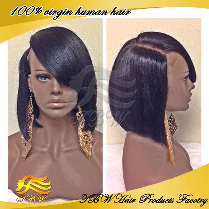 Online Shop GQ Full lace human hair bob wigs short glueless bob Virgin  Brazilian wig short lace front wigs for black women baby hair