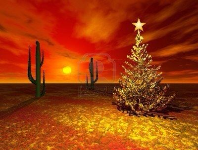 Christmas Tree In The Desert.Christmas In The Desert For Grandpa Christmas
