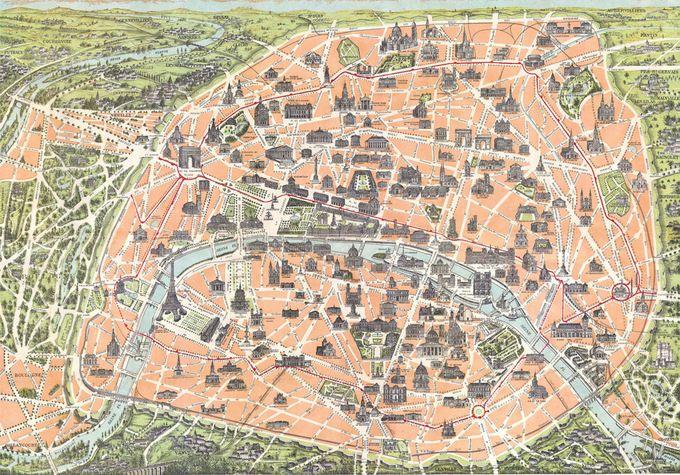 Map of Paris, 1900 | Maps | Pinterest | Paris map, Map and Paris