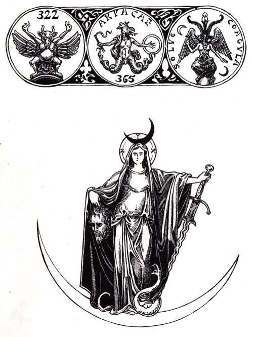 Moloch, Abraxsas, Baphomet, and Hecate.