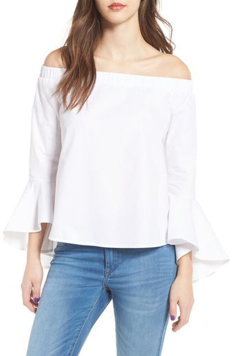 fa8982118462ff Soprano Bell Sleeve Off the Shoulder Blouse | Tops | Bell sleeves ...