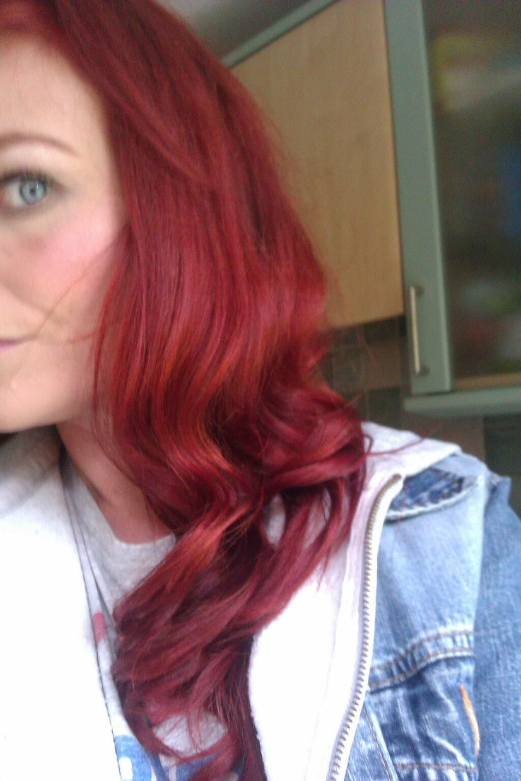 A Close Up Of My Red Hair Using Garnier Nutrisse Ultra Color In
