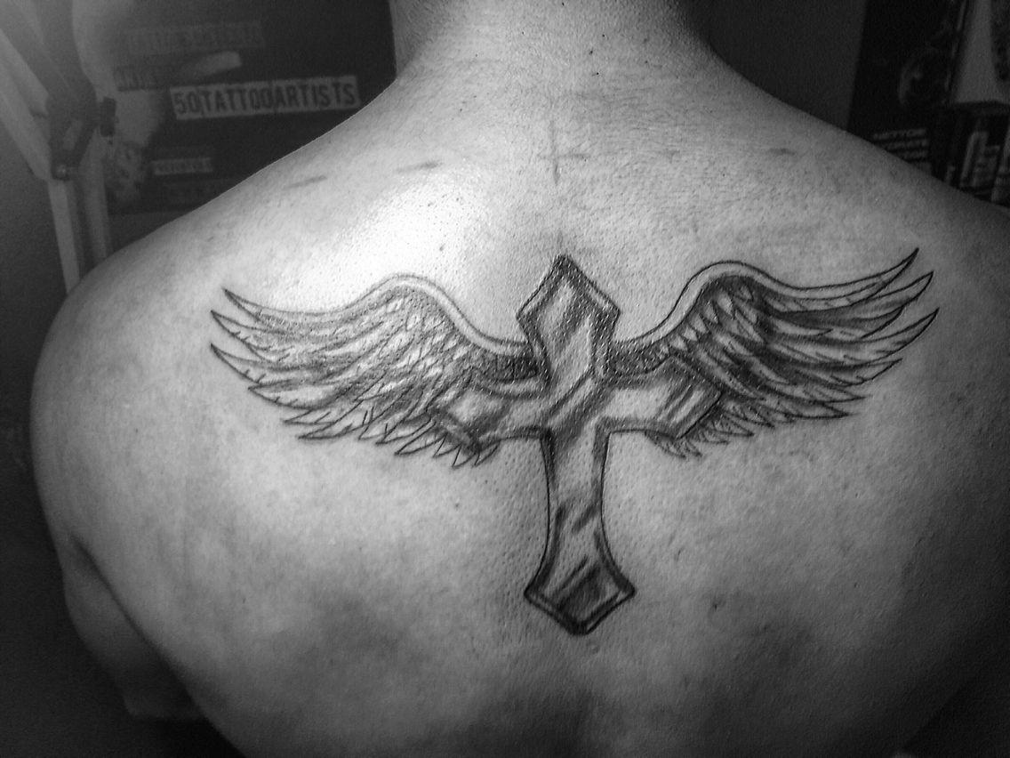 Croix Ailes D Anges Ailes D Ange Tatouage Aile