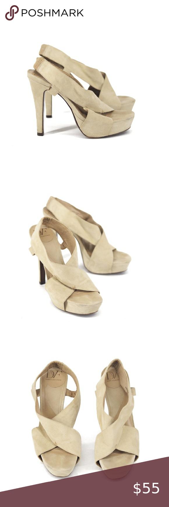 Diane Von Furstenberg | tan suede strap heels Dian