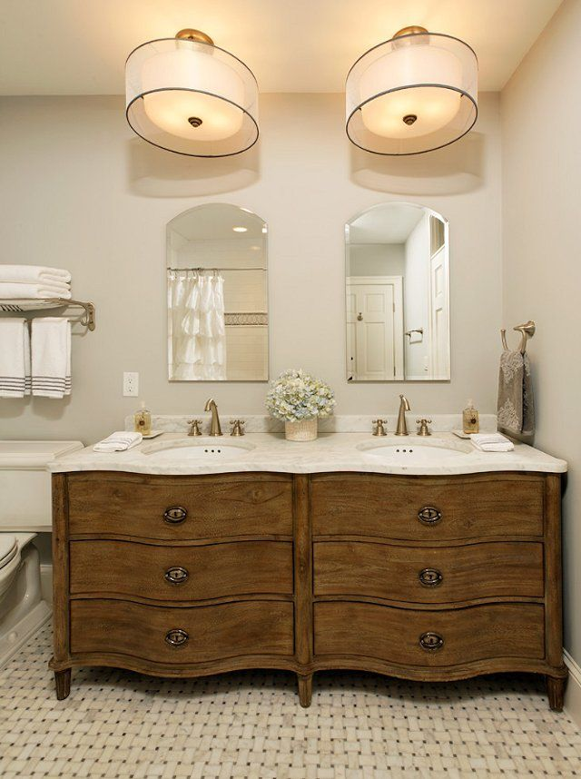 I love this vanity sources floors from architectural for Restoration hardware vanities bath