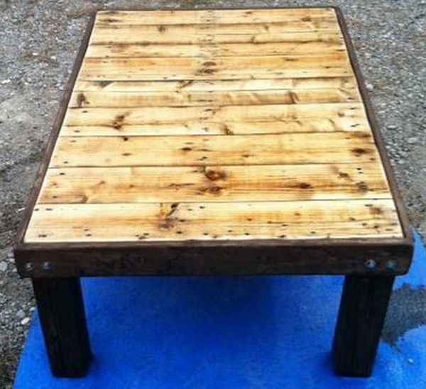 how to make a coffee table out of a wooden pallet – easy low cost