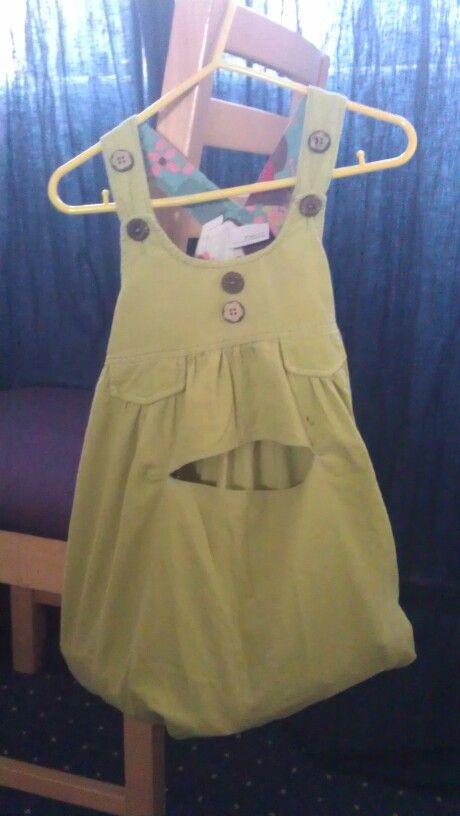 Peg bag made from a dress