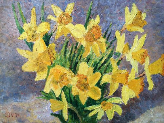 Reserved for Georgina French painting.A bouquet of by Albanegalery, $60.00