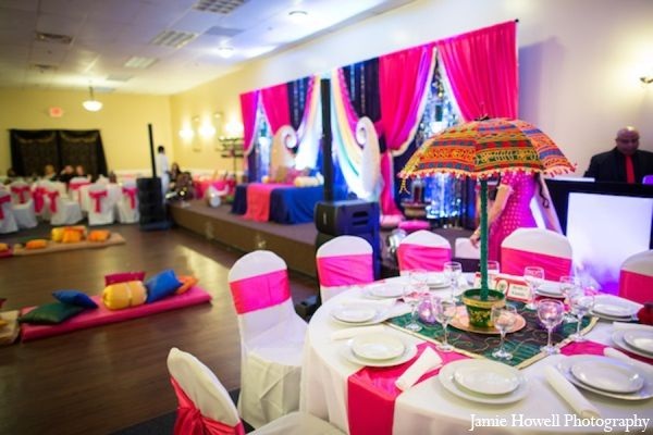 Asian Mehndi Party : A south asian bride and groom marry in traditional muslim wedding