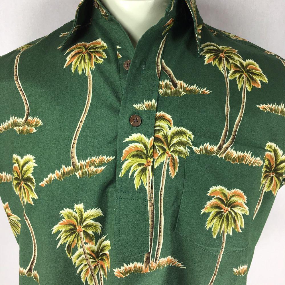 3675d4c98 Reyn Spooner Joe Kealoha's Size XS Hawaiian Pullover Shirt Palm Trees  Waipouli #ReynSpooner #Hawaiian