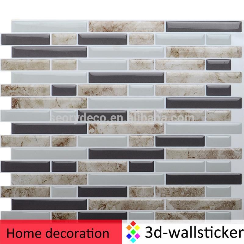 Stick On Tile Decorations 5 Years Experience Professional Maker Soft Ligh Weight 3D Marble