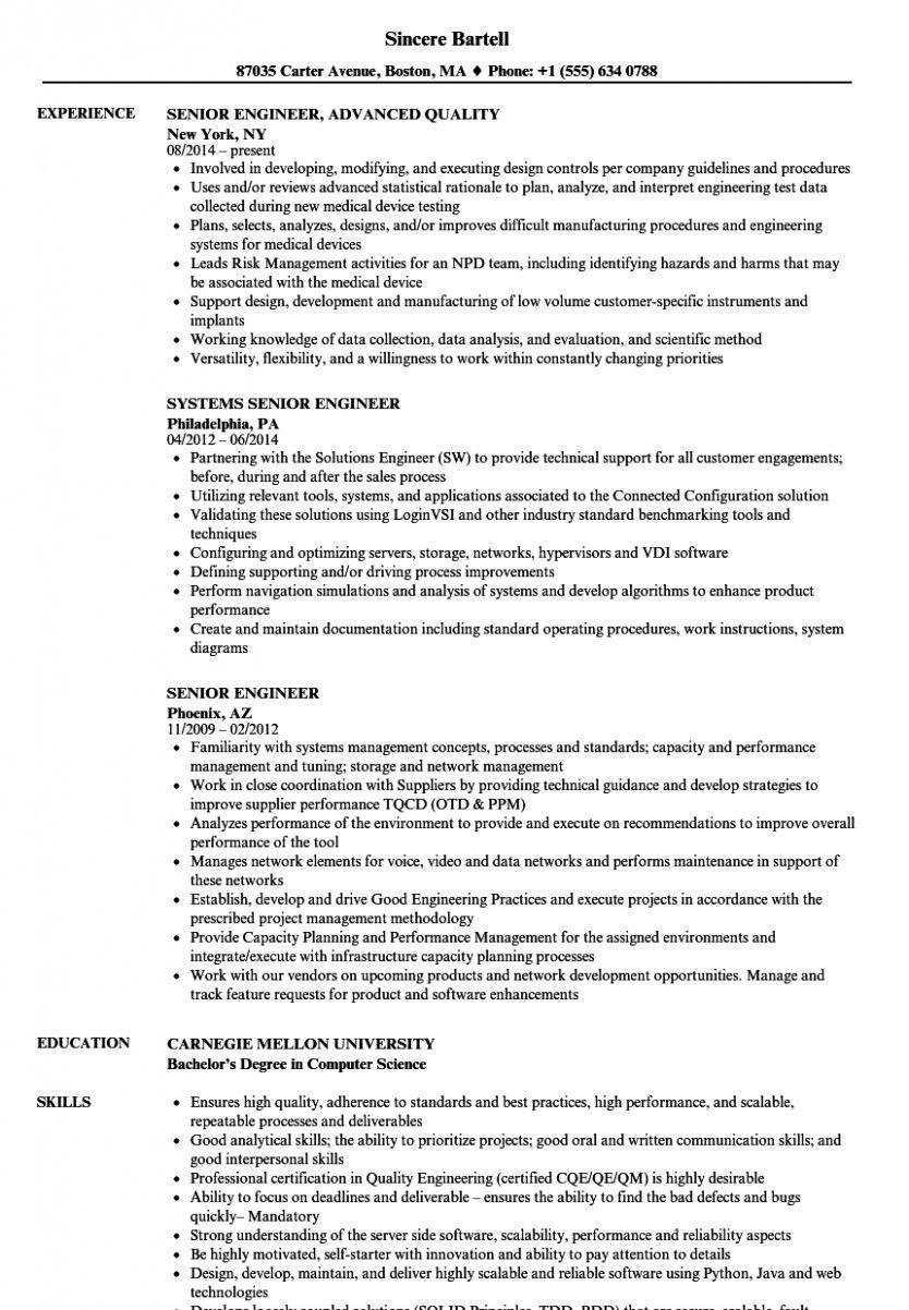 13 Utility Engineer Resume di 2020 Modern
