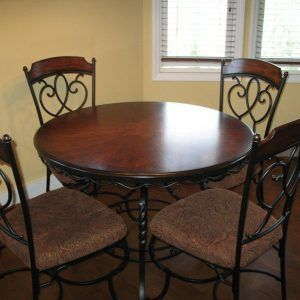 Dining Room Tables Wood And Wrought Iron