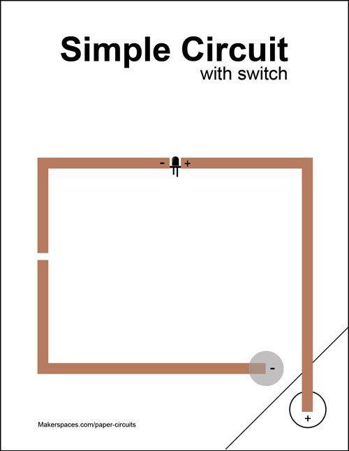 simple-circuit-w-switch-paper circuits | SALK STEM NIGHT | Pinterest ...