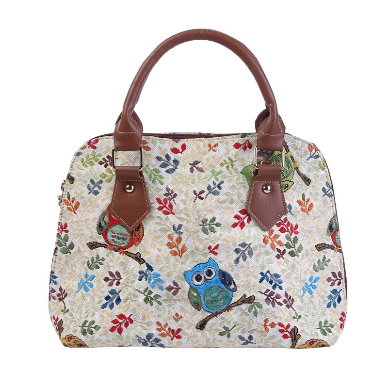 VKYSTAR Fashion Shell Women Party Messenger Bags Owl Print Jacquard Handbags European And American Style Female Shoulder Bag 601