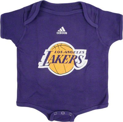 Los Angeles Lakers Newborn Infant Primary Logo Creeper Los Angeles Lakers Los Angeles Lakers