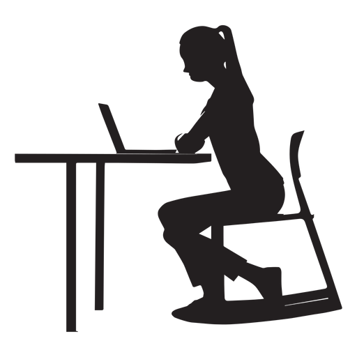 Woman Sitting At Desk Silhouette Ad Paid Ad Sitting Desk Silhouette Woman Person Silhouette Silhouette Png Silhouette