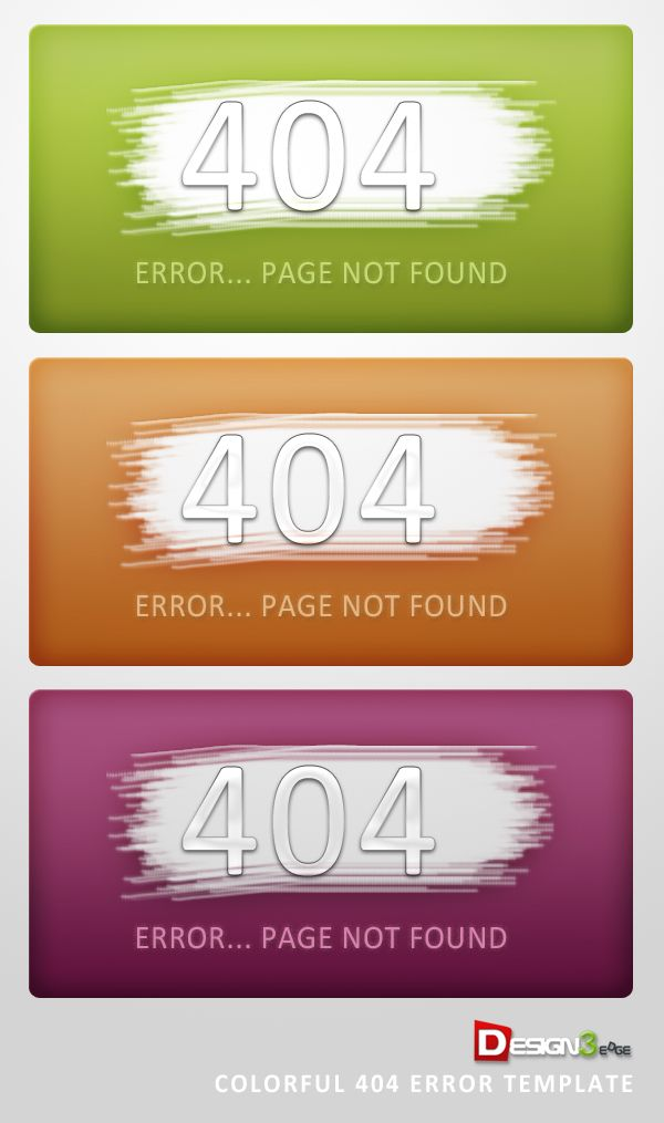 Colorful 404 Error Template