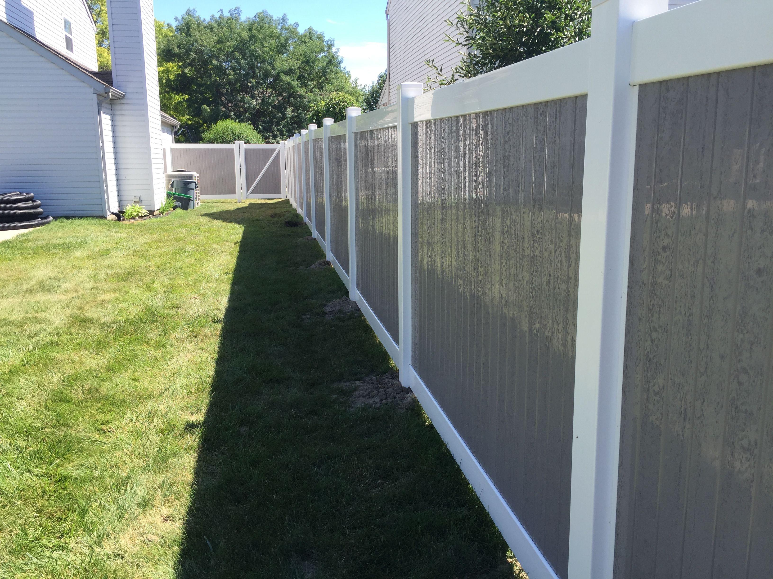 Kingston Vinyl Privacy Fence Grey Fences Fence
