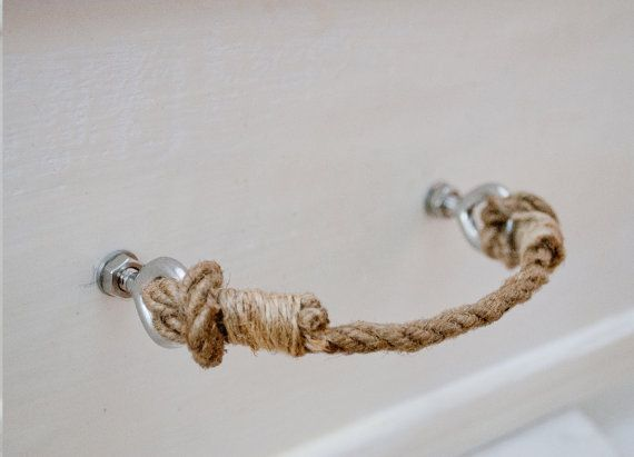 Rope Handle Drawer Pulls Simple Rustic Shabby By Frankuscraft 5 00