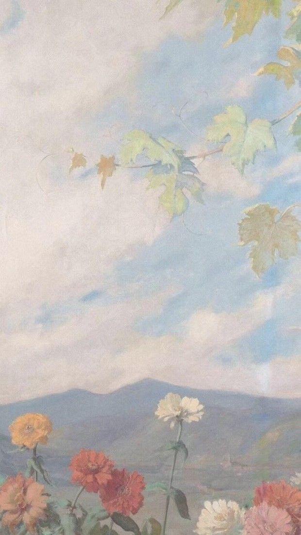 Pintura de flores estética papel pintado – Blog De Arte 2020