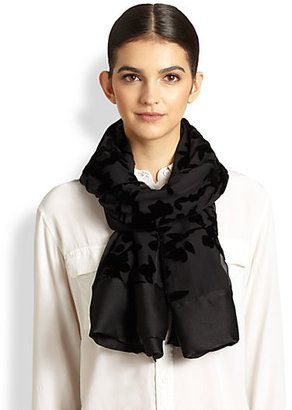 Armani Collezioni Velvet Burnout Stole #15things #trending #fashion #style #velvet #Armani
