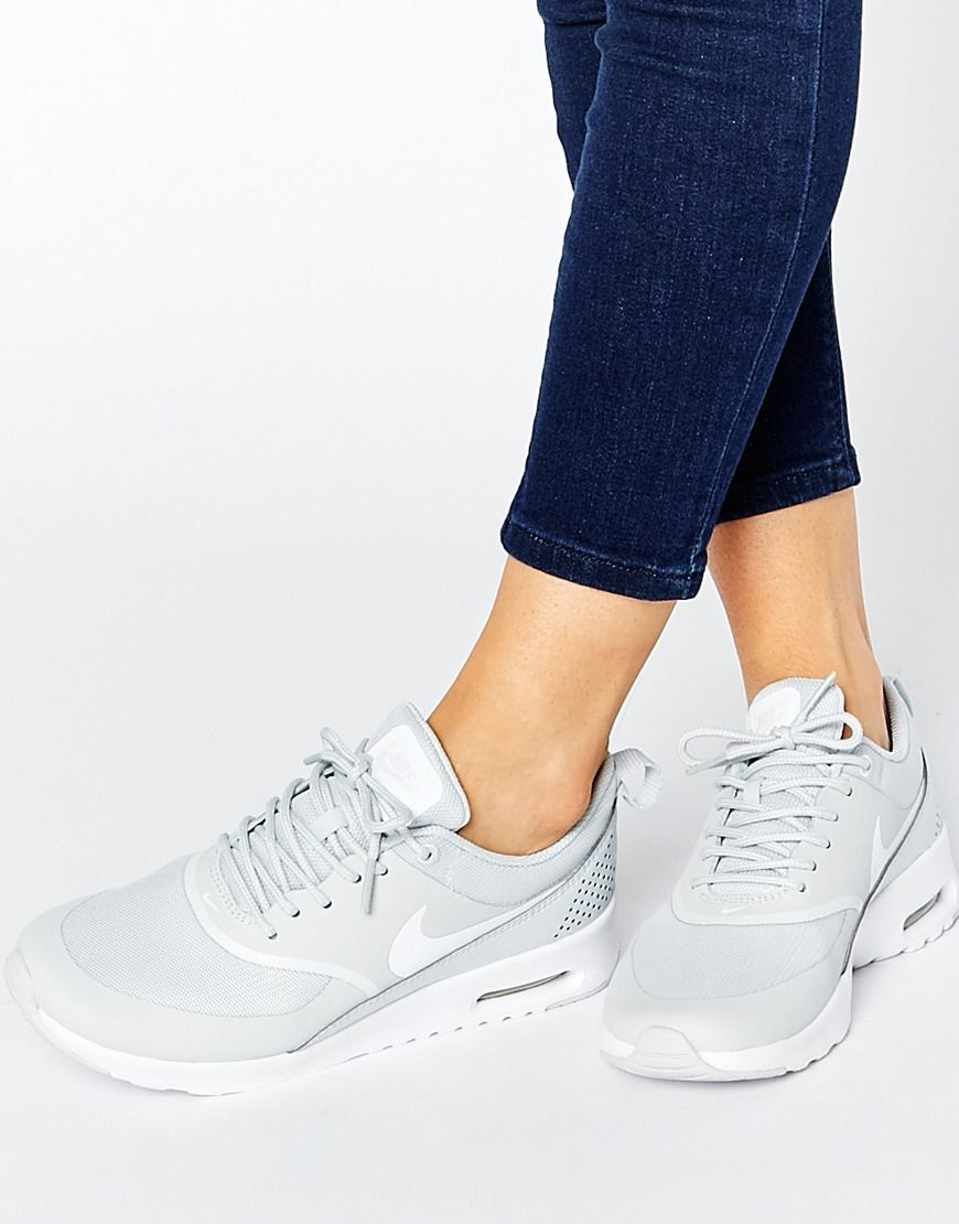 Image 1 of Nike Air Max Thea White Platinum Trainers