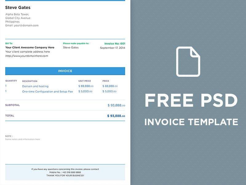 Free Psd Invoice Template Freebie Jar Invoice Template Free Psd Invoice Template Word