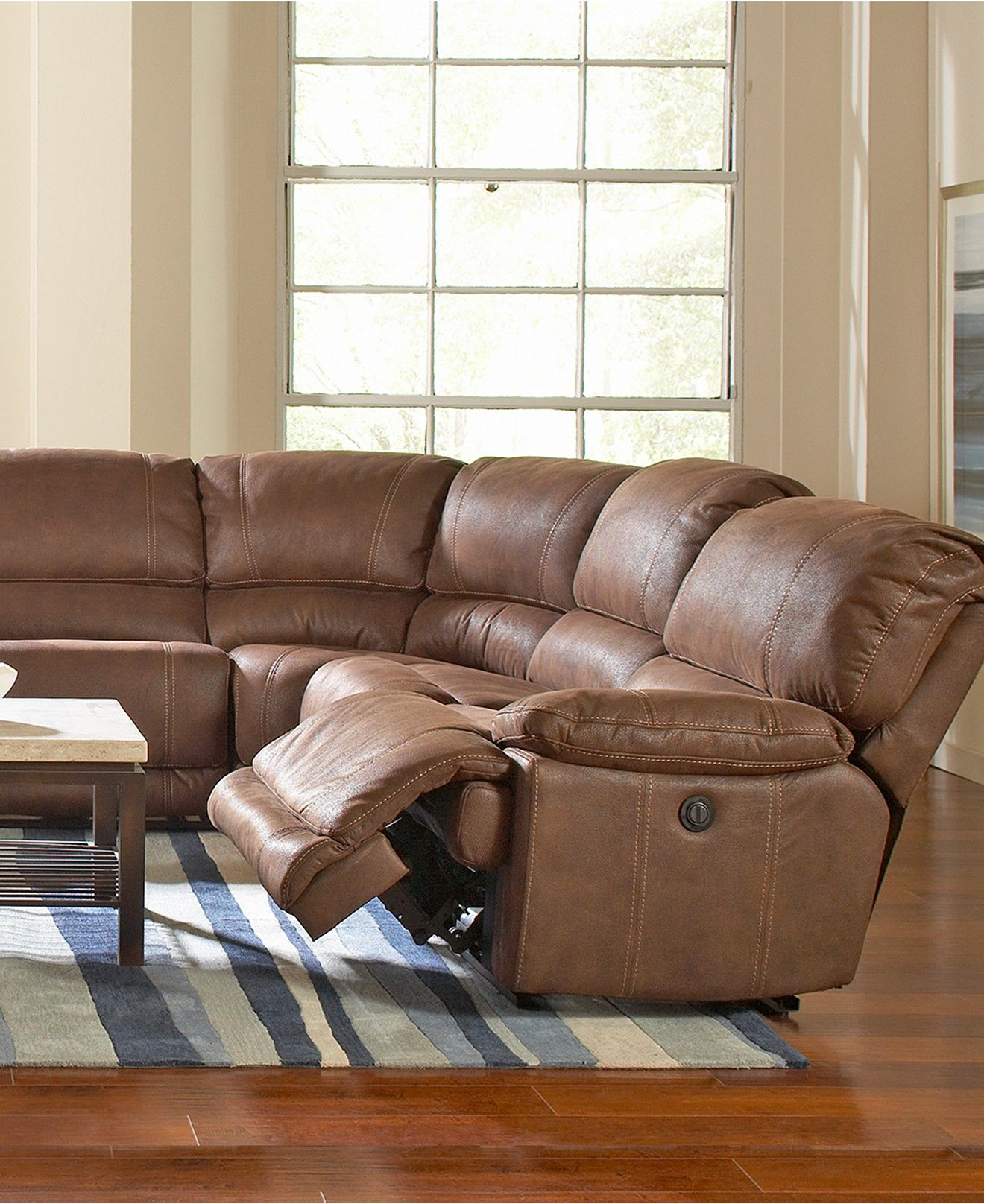 Jedd Fabric 6 Piece Power Reclining Sectional Sofa (2 Power Motion Recliners,  2