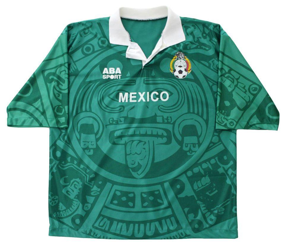 76c7e1a3713 Vtg 90s ABA SPORT MEXICO Soccer Jersey | Random Junk | Mexico soccer ...