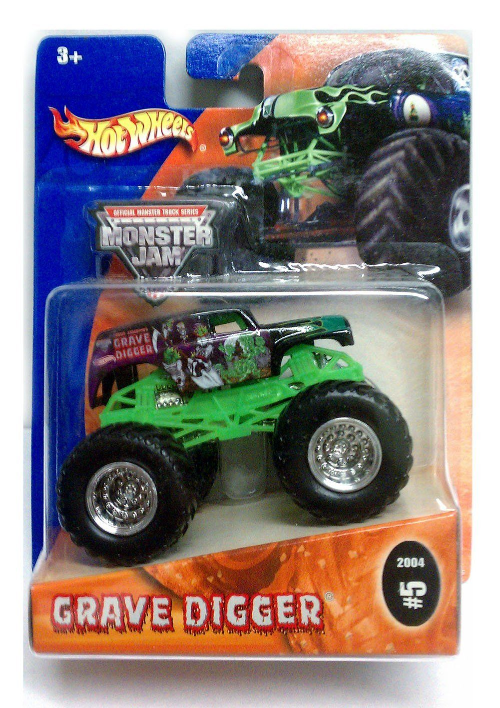 Amazon Com Grave Digger Monster Truck 2004 Hot Wheels Monster Jam 5 1 64 Scale Collectible Die Monster Trucks Hot Wheels Monster Jam Hot Wheels Toys