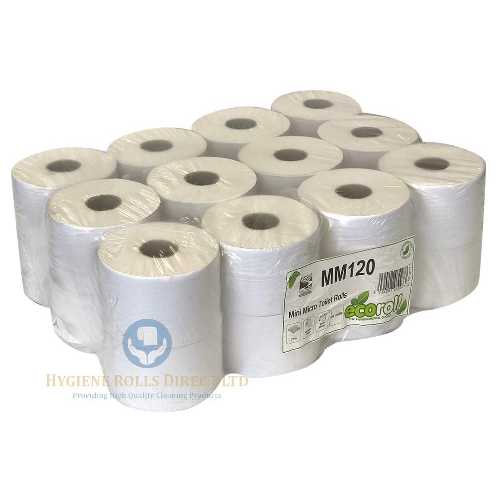 12 Rolls Active Blue Centre Feed Roll Embossed Tissue 2ply Hand Wipe Paper Towel