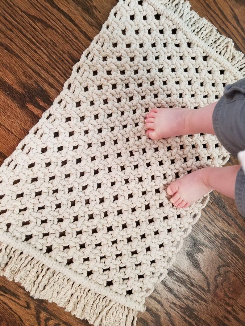 Small Macramé Rugs Boho Home Decor Bohemian Carpet Soft   Etsy