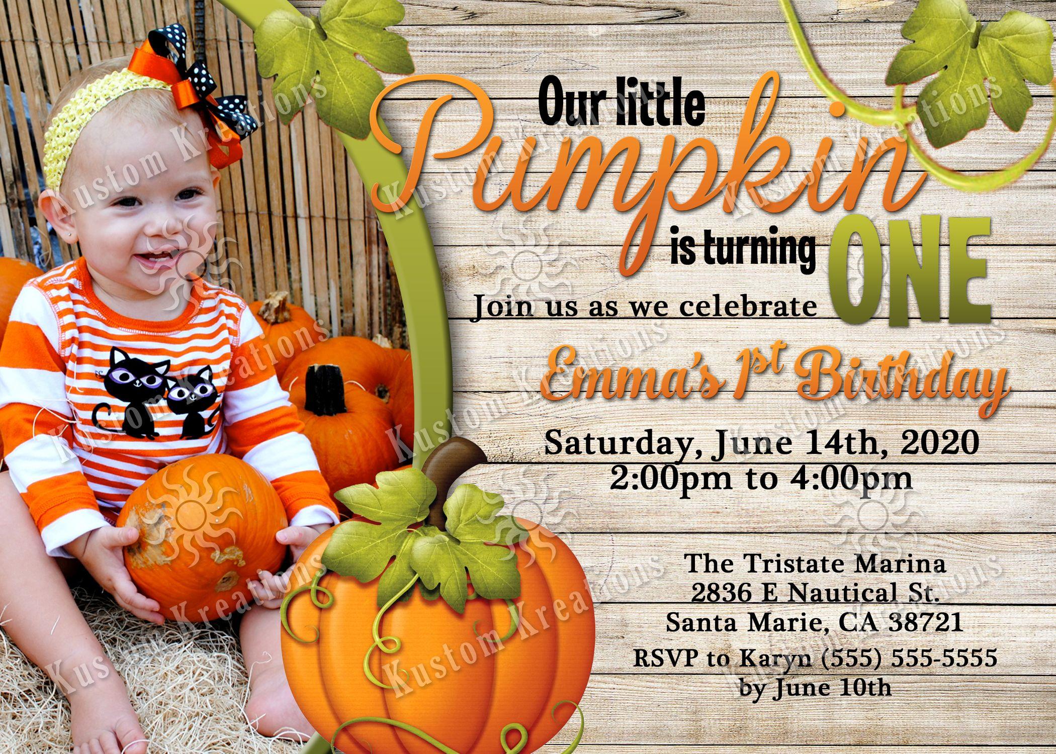 Pumpkin Birthday Invitations | Twin birthday and Birthdays