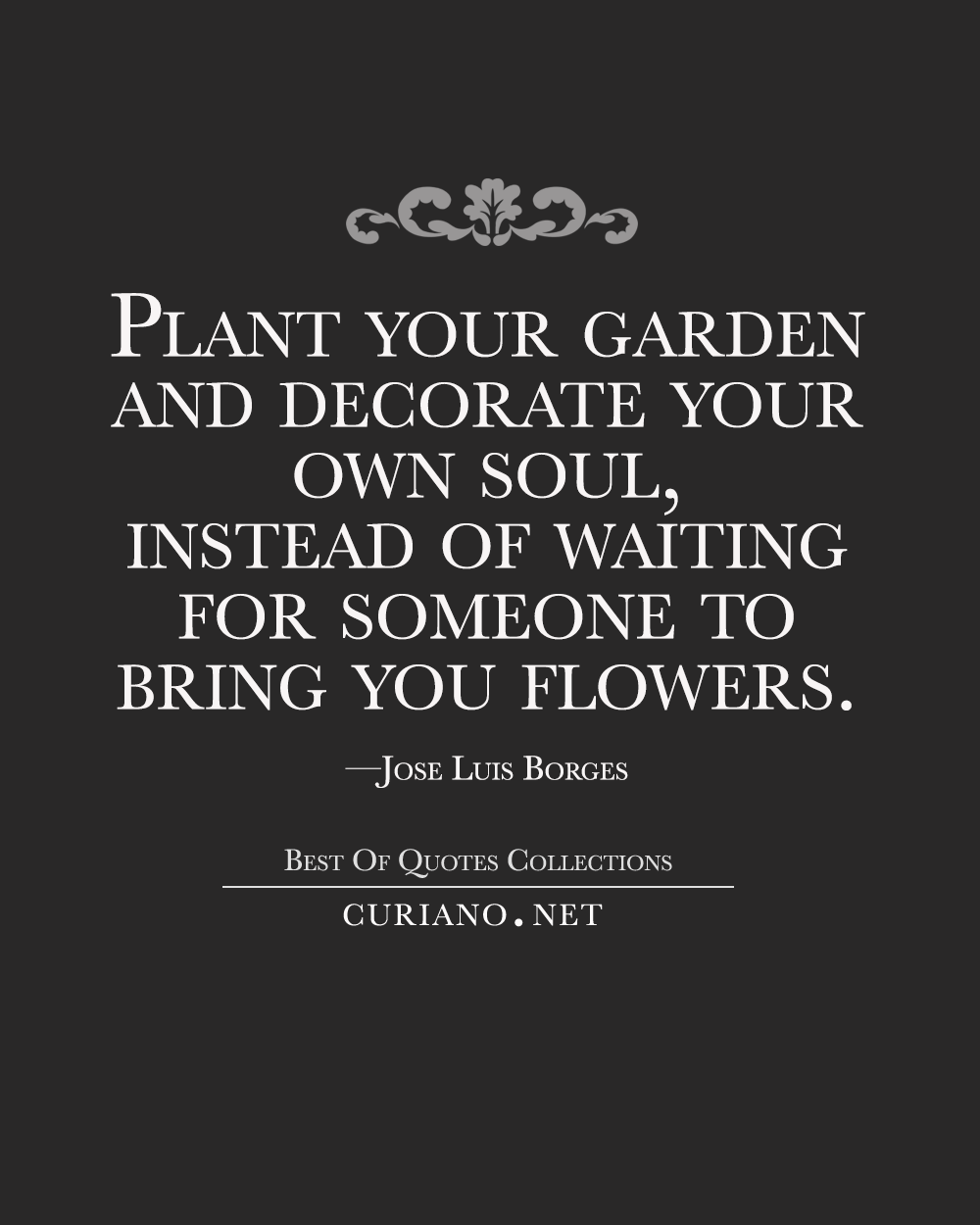 Plant your garden and decorate your own soul, instead of ...